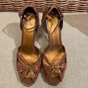 Paolo Brown Leather Heels